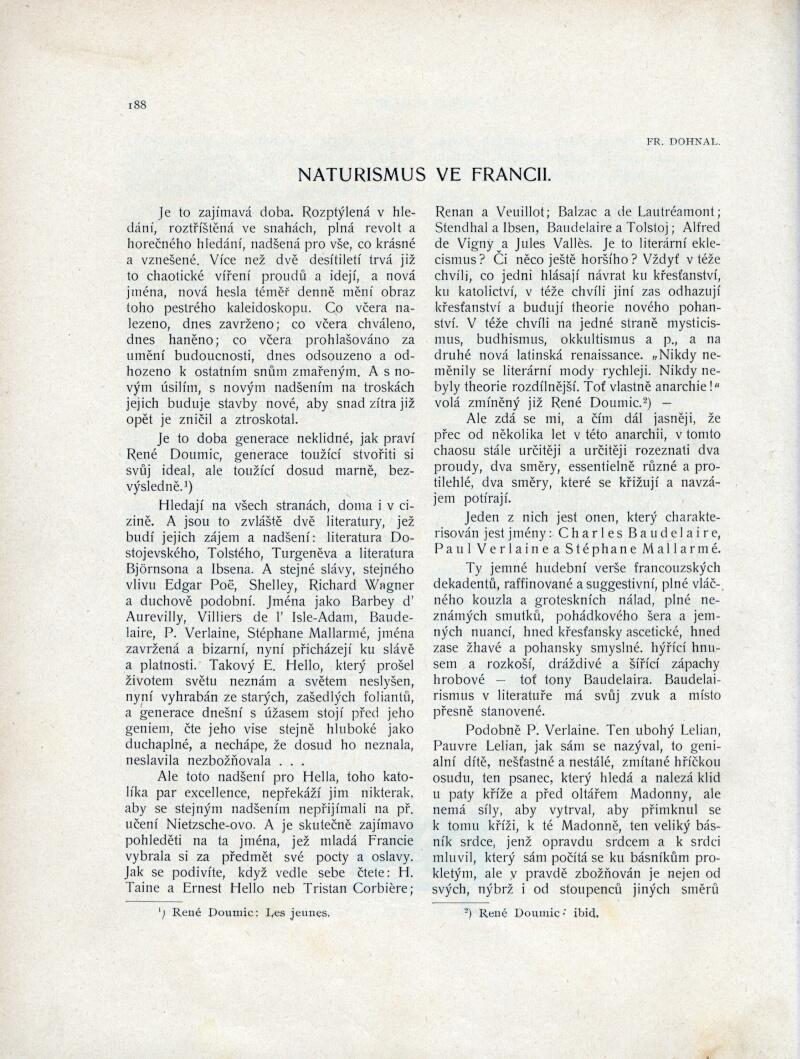 Naturismus ve Francii (1 - 2) v Zivot ročník 1902 číslo Text ...